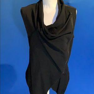 Blank NYC black draped vest size small